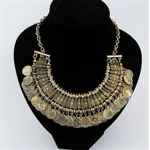 Jewelry - BoHo Coin Statement Necklace_gold